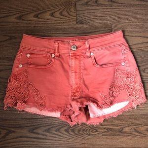 🌼2/$40 American eagle burnt orange jean shorts